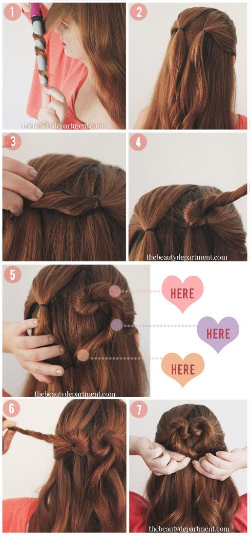 heart hair tutorial