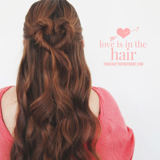 Heart hair for Valentines Day by the Beauty Department