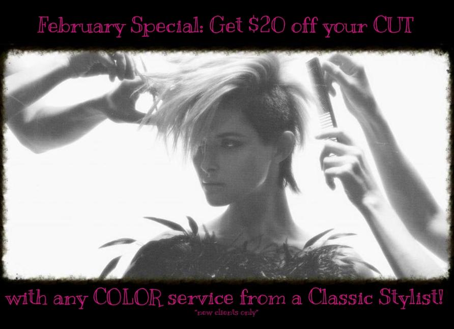 $20 off cut with any color service Gel Cary Hair Salon