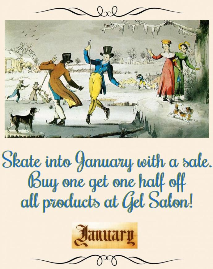 January BOGO 1/2 off Sale Gel Salon Cary Hair