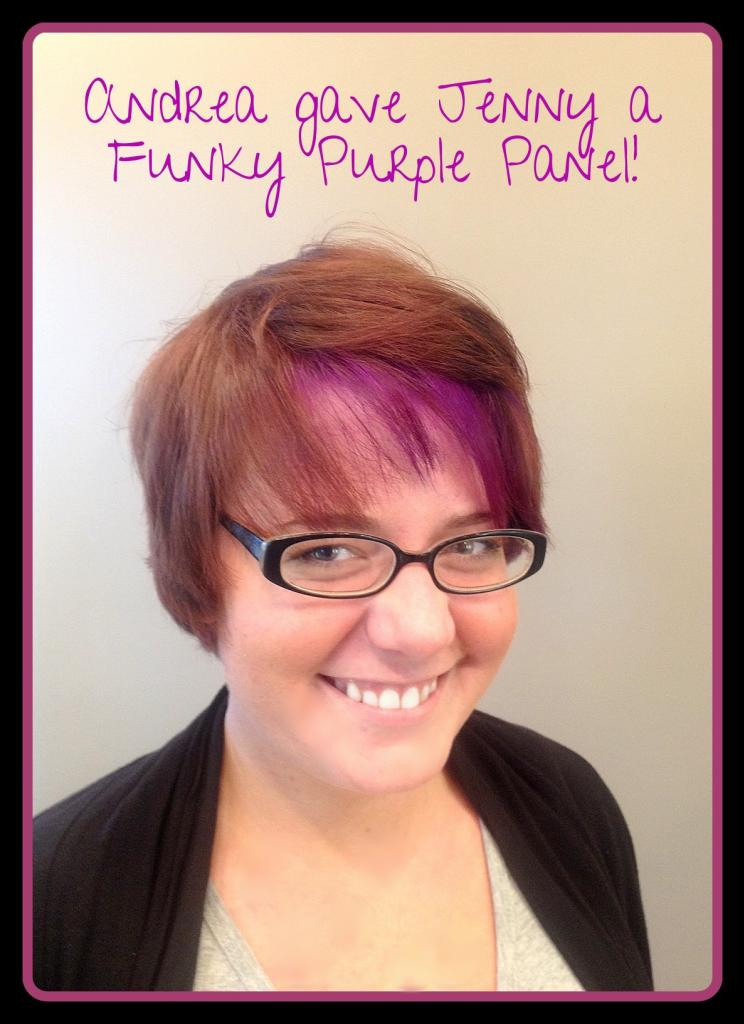 color, purple panel, modern hair, Cary, Gel Salon