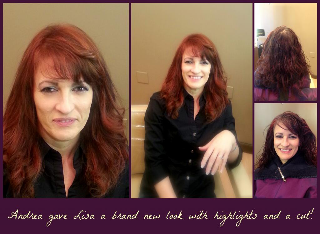 red color, highlights, cut, new look